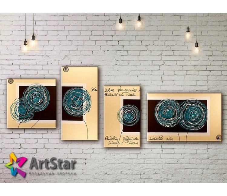 Модульные Картины, рисованные, маслом, Art. MHM17_4_392