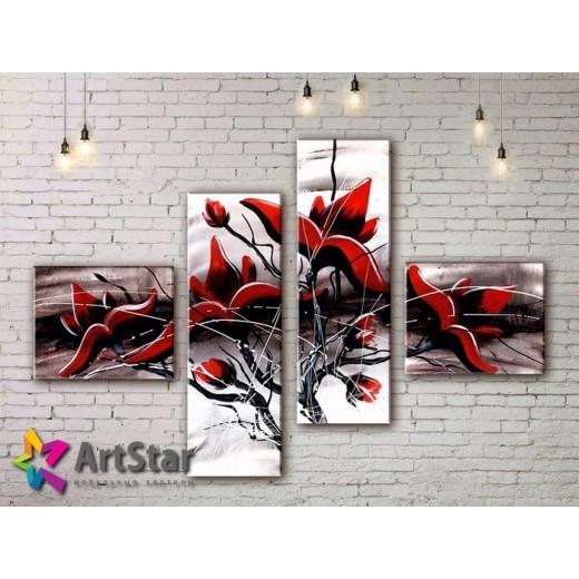 Модульные Картины, рисованные, маслом, Art. MHM17_4_400