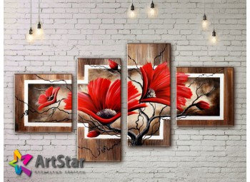 Модульные Картины, рисованные, маслом, Art. MHM17_4_419