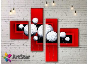Модульные Картины, рисованные, маслом, Art. MKM17_4_003