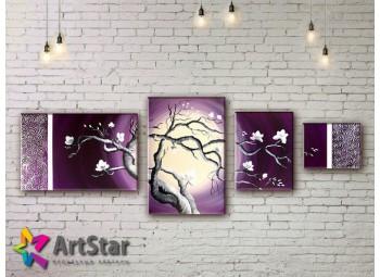 Модульные Картины, рисованные, маслом, Art. MKM17_4_019