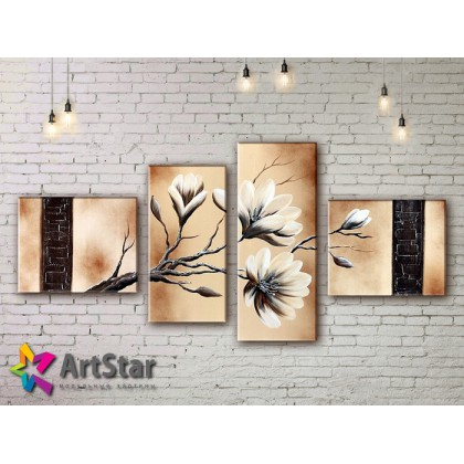 Модульные Картины, рисованные, маслом, Art. MKM17_4_021