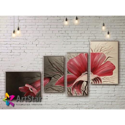 Модульные Картины, рисованные, маслом, Art. MKM17_4_025