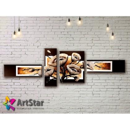 Модульные Картины, рисованные, маслом, Art. MKM17_4_027