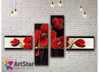 Модульные Картины, рисованные, маслом, Art. MKM17_4_029
