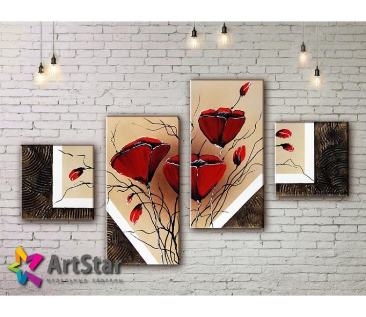 Модульные Картины, рисованные, маслом, Art. MKM17_4_033