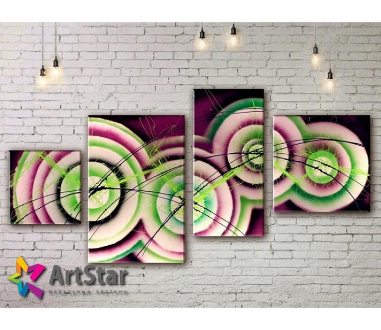 Модульные Картины, рисованные, маслом, Art. MKM17_4_035
