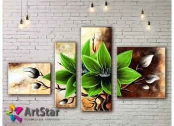 Модульные Картины, рисованные, маслом, Art. MKM17_4_041