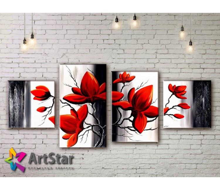 Модульные Картины, рисованные, маслом, Art. MKM17_4_051