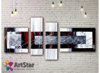 Модульные Картины, рисованные, маслом, Art. MKM17_4_055