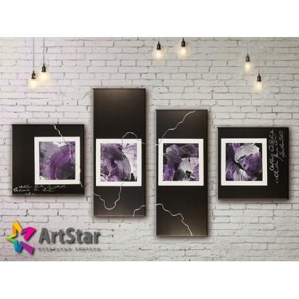 Модульные Картины, рисованные, маслом, Art. MKM17_4_057