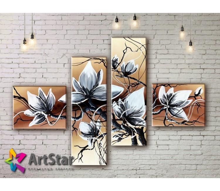 Модульные Картины, рисованные, маслом, Art. MKM17_4_065