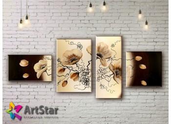 Модульные Картины, рисованные, маслом, Art. MKM17_4_069