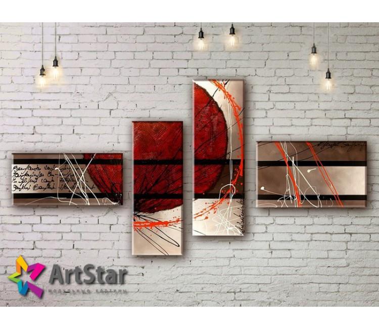 Модульные Картины, рисованные, маслом, Art. MKM17_4_073