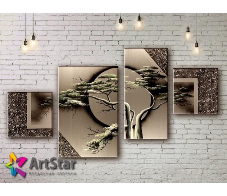 Модульные Картины, рисованные, маслом, Art. MKM17_4_077