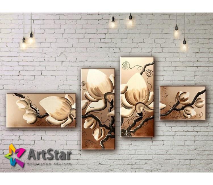 Модульные Картины, рисованные, маслом, Art. MKM17_4_079