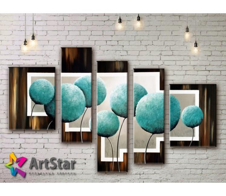 Модульные Картины, рисованные, маслом, Art. MHM17_5_012