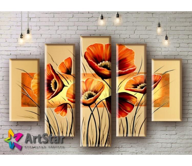 Модульные Картины, рисованные, маслом, Art. MHM17_5_022
