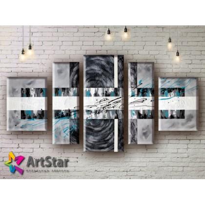 Модульные Картины, рисованные, маслом, Art. MHM17_5_030