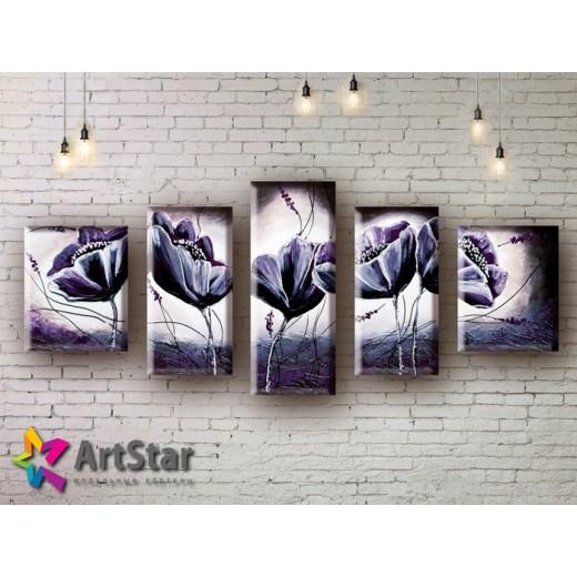 Модульные Картины, рисованные, маслом, Art. MHM17_5_034