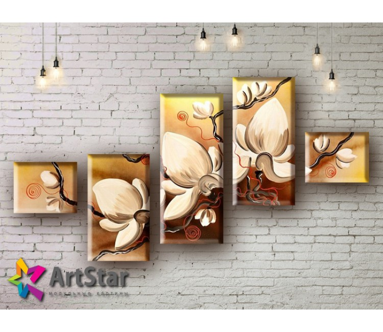Модульные Картины, рисованные, маслом, Art. MHM17_5_036