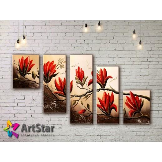 Модульные Картины, рисованные, маслом, Art. MHM17_5_050