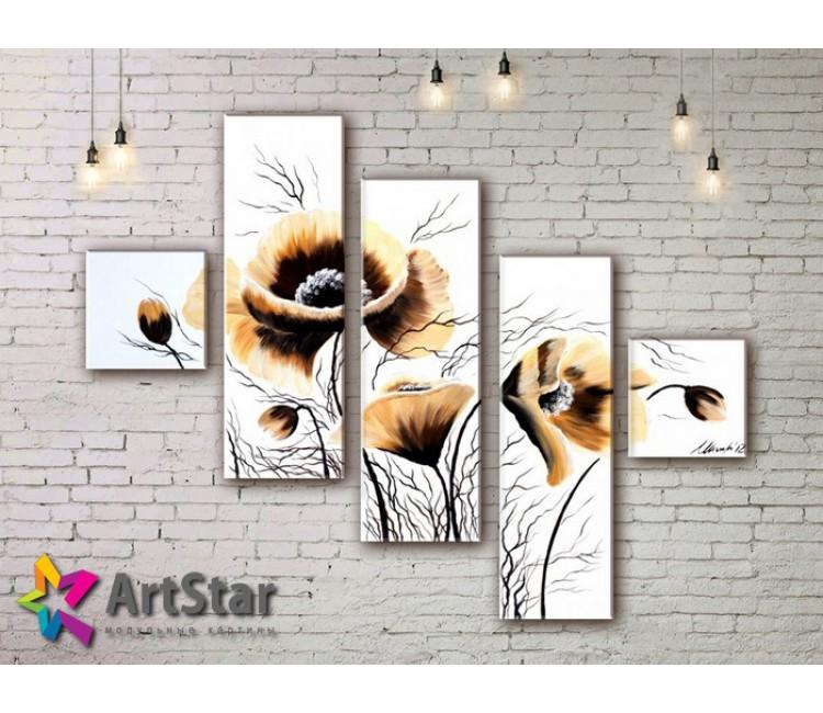 Модульные Картины, рисованные, маслом, Art. MHM17_5_056