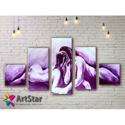 Модульные Картины, рисованные, маслом, Art. MHM17_5_058