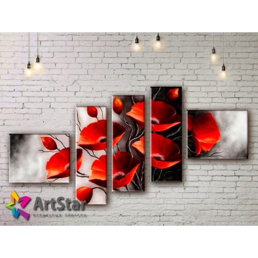 Модульные Картины, рисованные, маслом, Art. MHM17_5_068