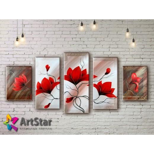Модульные Картины, рисованные, маслом, Art. MHM17_5_070