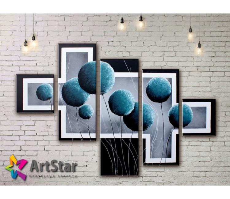 Модульные Картины, рисованные, маслом, Art. MHM17_5_074