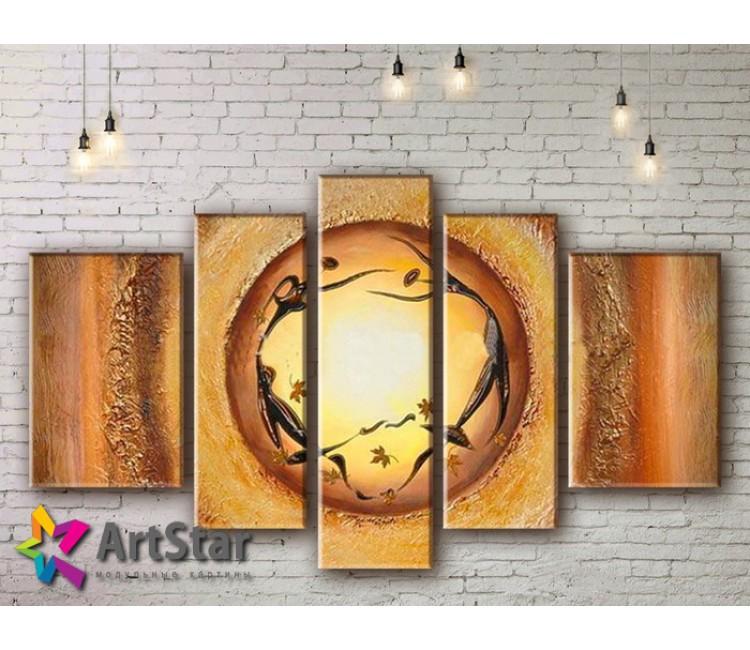 Модульные Картины, рисованные, маслом, Art. MHM17_5_076