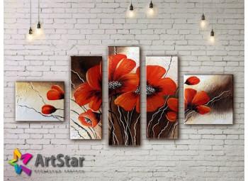 Модульные Картины, рисованные, маслом, Art. MHM17_5_082