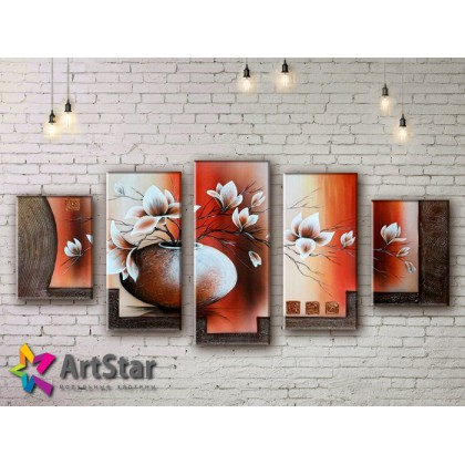 Модульные Картины, рисованные, маслом, Art. MHM17_5_088
