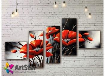 Модульные Картины, рисованные, маслом, Art. MHM17_5_090