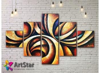 Модульные Картины, рисованные, маслом, Art. MHM17_5_092