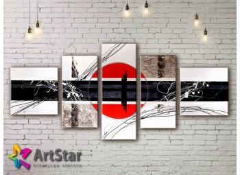 Модульные Картины, рисованные, маслом, Art. MKM17_5_003