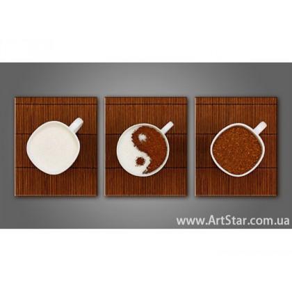 Модульная картина, Кофейный натюрморт 7 - SALE