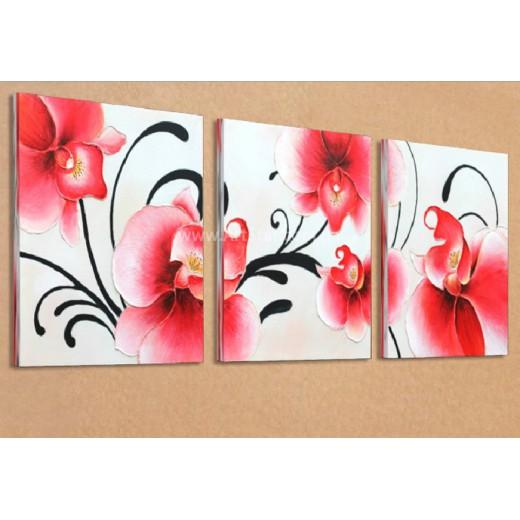 Рисованная модульная картина Цветы 18