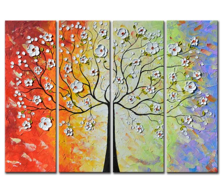 Рисованная модульная картина Цветы 43