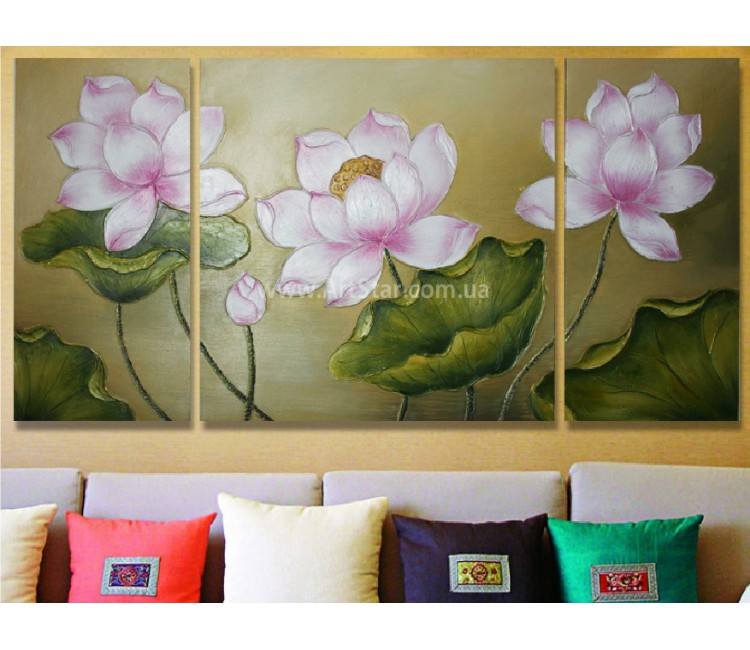 Рисованная модульная картина Цветы 25