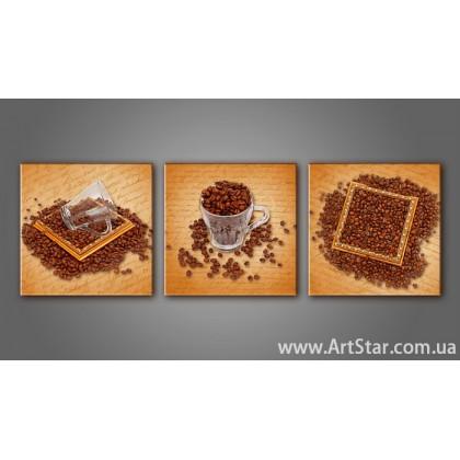 Модульная картина Кофейный натюрморт