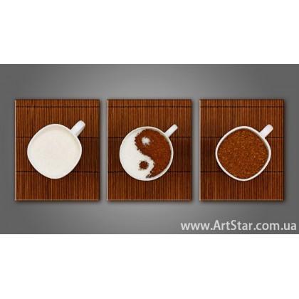 Модульная картина Кофейный натюрморт 2