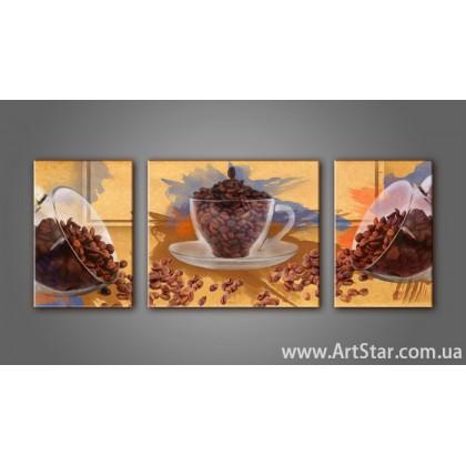 Модульная картина Кофейный натюрморт 3