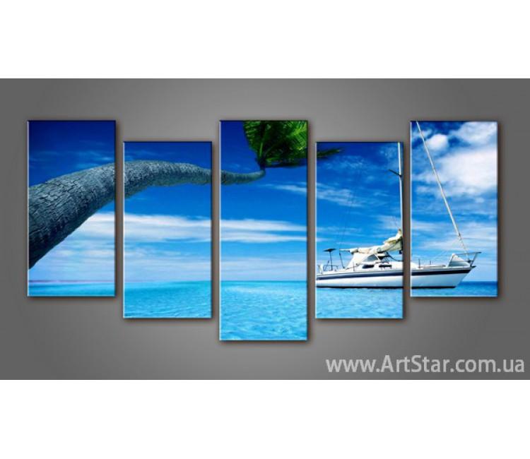 Модульная картина Морской пейзаж (5) 2