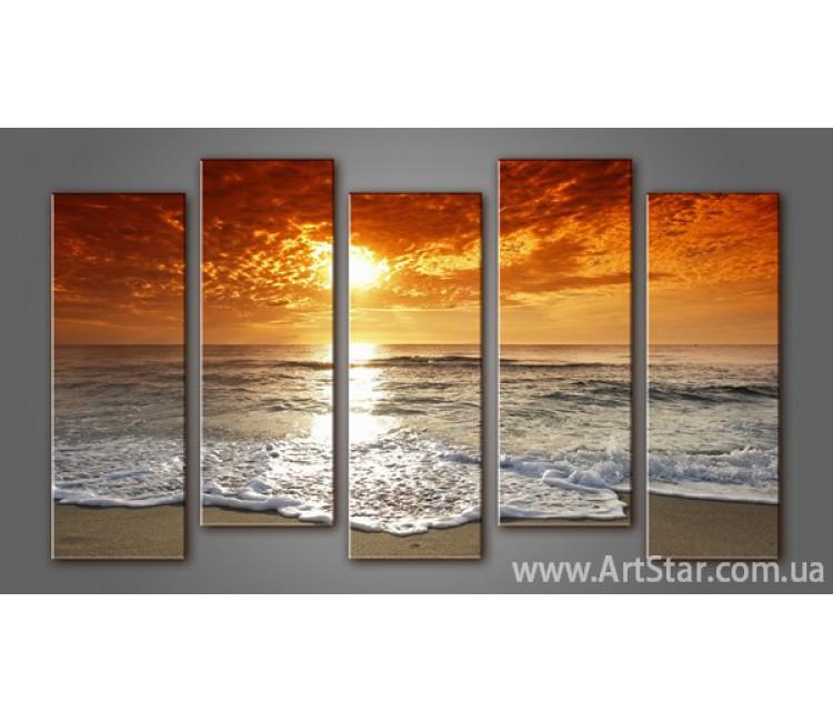 Модульная картина Морской пейзаж (5) 10
