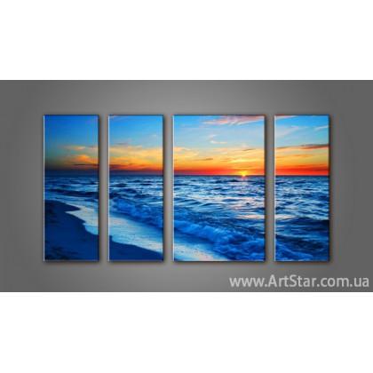 Модульная картина Морской пейзаж (4) 11