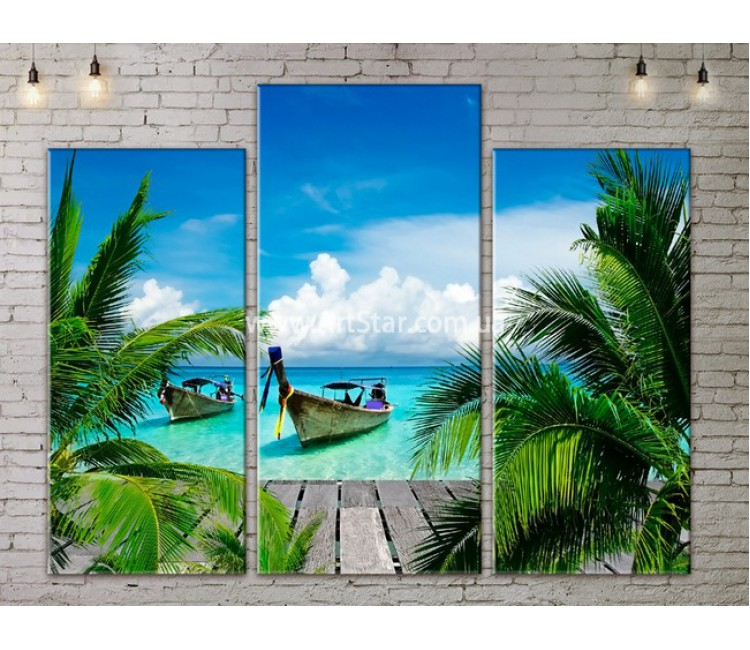 Модульные Картины, Морской пейзаж, Art. SEAA777043