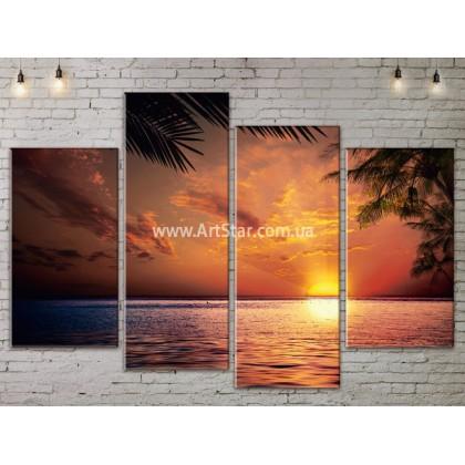 Модульные Картины, Морской пейзаж, Art. SEAA777065