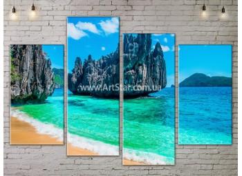 Модульные Картины, Морской пейзаж, Art. SEAA777083